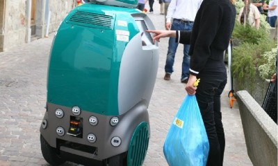 DustBot je samočinný uklízeč a sběrač odpadků v italském Peccioli.