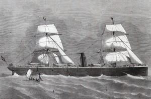 Osobní loď Cimbria byla chloubou celého Německa.