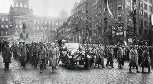 Masarykův návrat do vlasti 21. prosince 1918.
