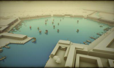 Model menšího přístavu, který postavil císař Traján v roce 103.