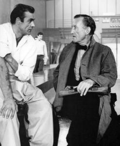 Setkání Seana Conneryho (vlevo) a Iana Fleminga při natáčení bondovky Dr. No.