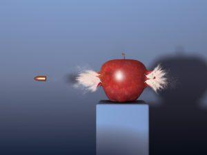 Platí úměra, že čím menší má střela průměr při téže rychlosti, tím vyšší je její průraznost.