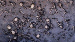 Na ploše pouhých 12 metrů čtverečních bylo odkryto 1478 kostí, včetně 20 lebek.