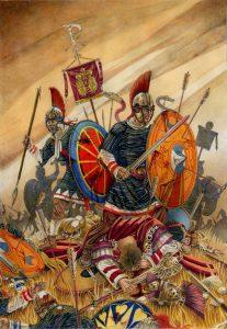 Římané ve střetnutí u Adrianopole podlehli koalici gótských kmenů, kterým velel náčelník Fritigernem.