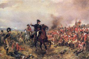 Z bitvy u Waterloo Wellington vyjde bez jediného škrábnutí.