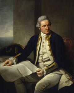 Slavný mořeplavec James Cook je také objevitelem Austrálie.