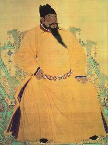 Čínský císař Jung-le, za jehož panování se výrazně vylepšila funkčnost kanálu.