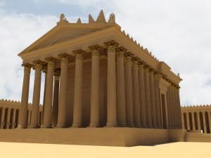 3D model Belova chrámu ,jenž byl postavený v 1. století našeho letopočtu.