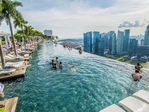 1. Luxusní hotel The Marina Bay Sands