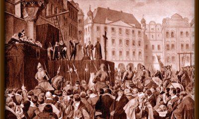Staroměstská exekuce trvala déle než čtyři hodiny a kat Jan Mydlář použil pro stínání odsouzenců čtyři meče!