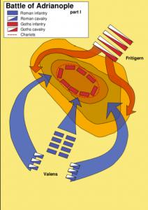 Útok Římanů a reakce Gótů