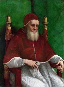 Papež Julius II. Švýcary v Římě vřele přivítá.