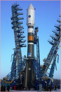 Do vesmíru zářící satelit vynese raketa Sojuz-2.