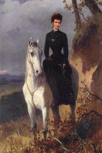 Na pravidelné vyjížďky na koni nedala Sissi dopustit.