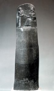 Chammurapiho zákoník je uložen v pařížském Louvru.