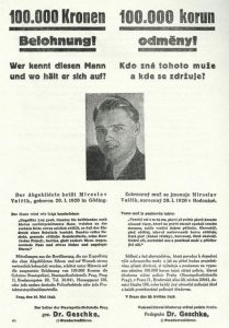 Po Heydrichiádě je na Valčíka vypsána odměna 100 000.
