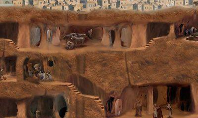 Obrovský podzemní komplex pod městem Derynkuyu sahá až do shloubky osmdesáti metrů!