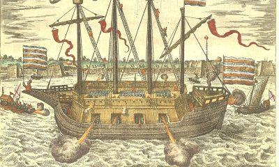 """2)Obleženým nepomůže ani těžce obrněná loď Finis Bellis (Konec války). Španělé ji posměšně nazvou """"Vyhozený prachy"""""""