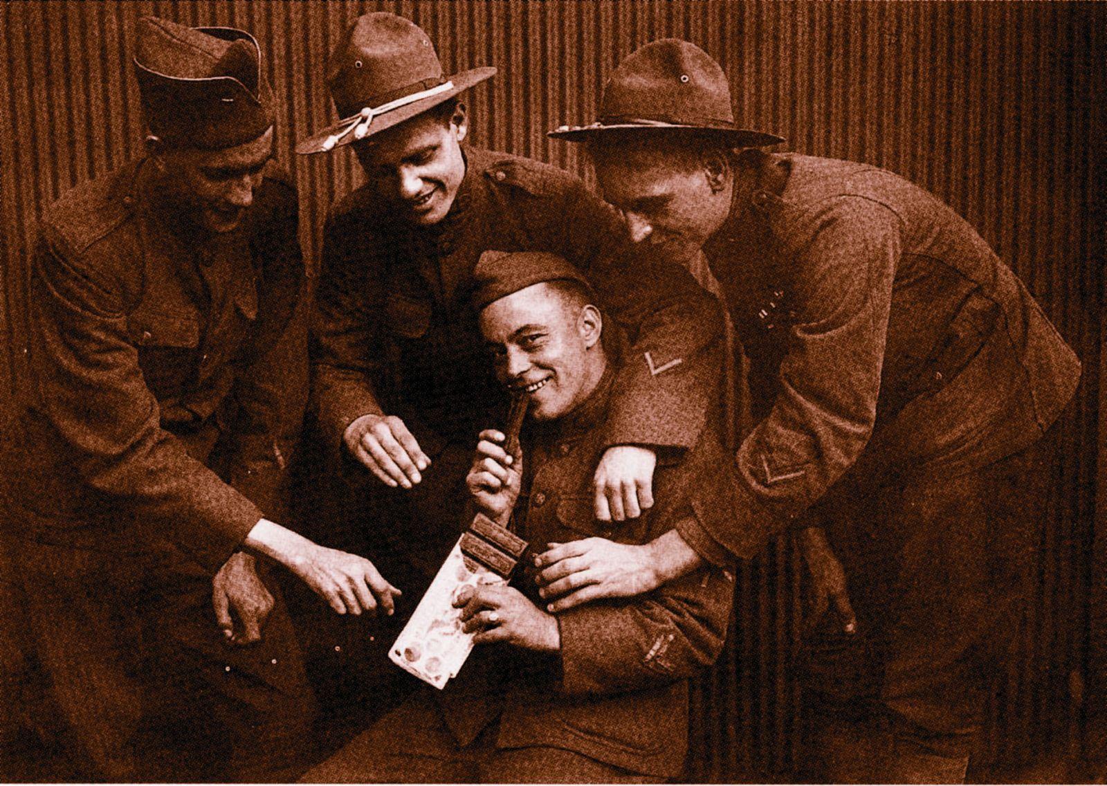 Na frontě dodávala čokoláda vojákům energii a zvyšovala jejich vytrvalost.
