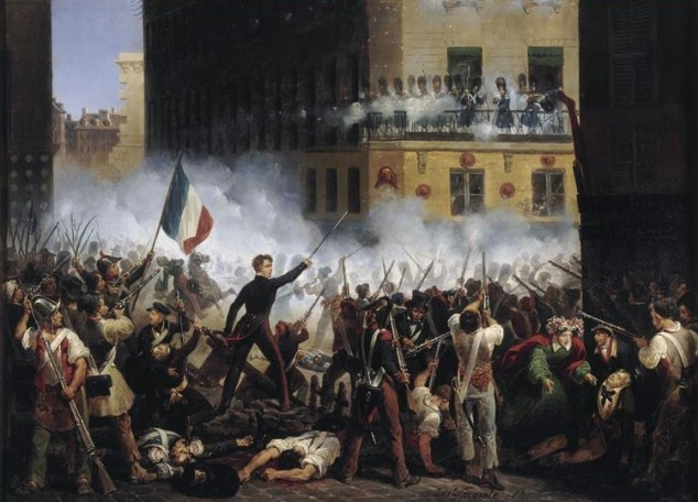 Třídenní revoluce v roce 1830 ukončila vládu prastaré dynastie Bourbonů.