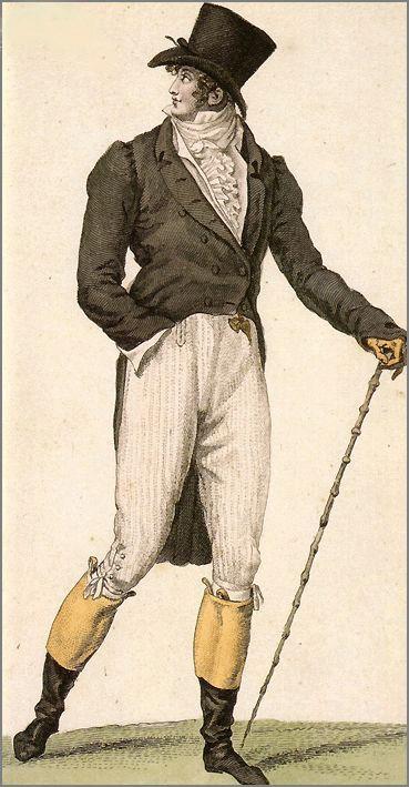 V 18. století má pánskou módu v malíčku George Brummell.
