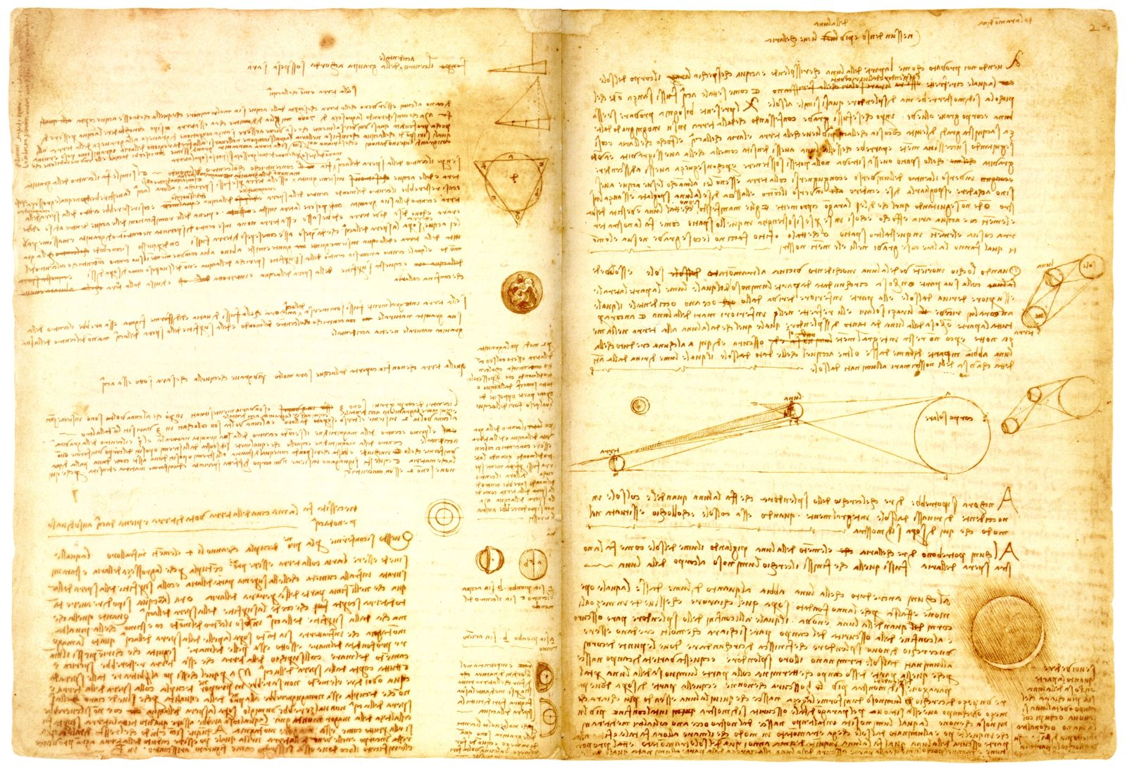 Ukázka da Vinciho zrcadlového písma.