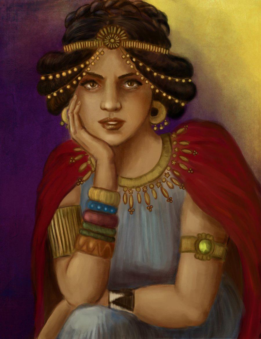 Královna ze Sáby byla velice krásná. Mohla mít milenců, kolik se jí zlíbilo,ale své srdce zaslíbila králi Šalamounovi.