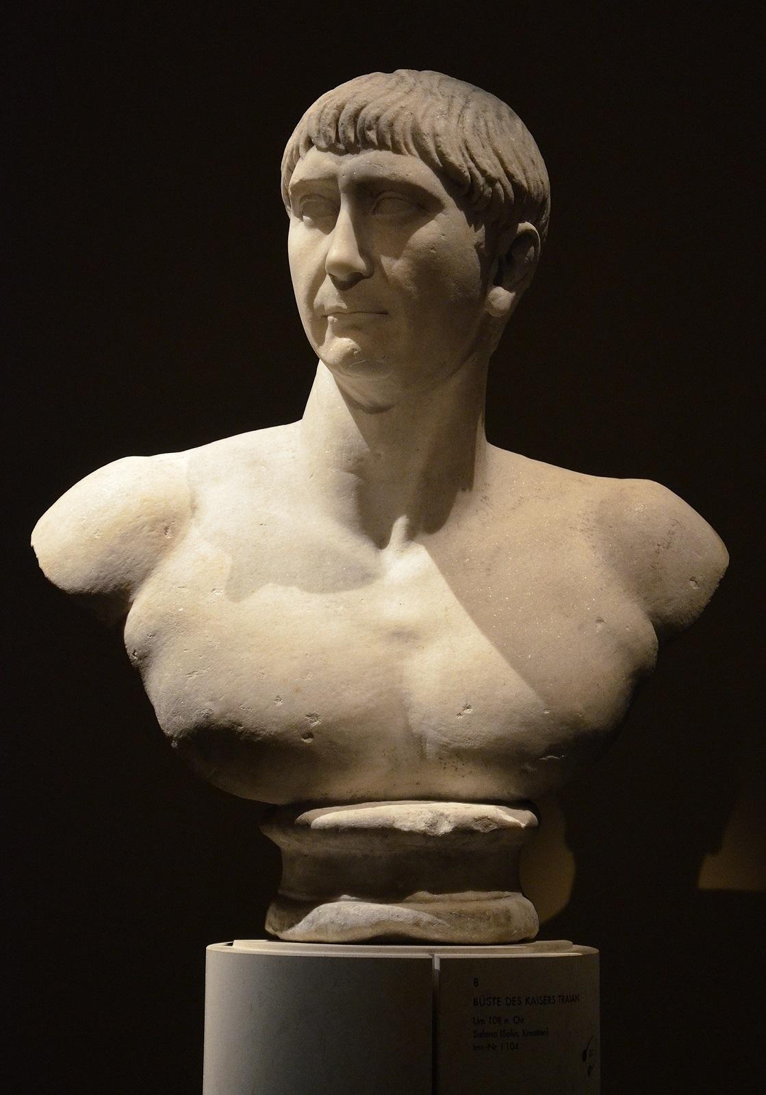 Císař Traianus vyvázl z katastrofy jen z lehkými zraněními.