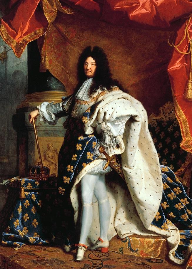 Ludvík XIV. opouští zámek Chantilly nadšený.