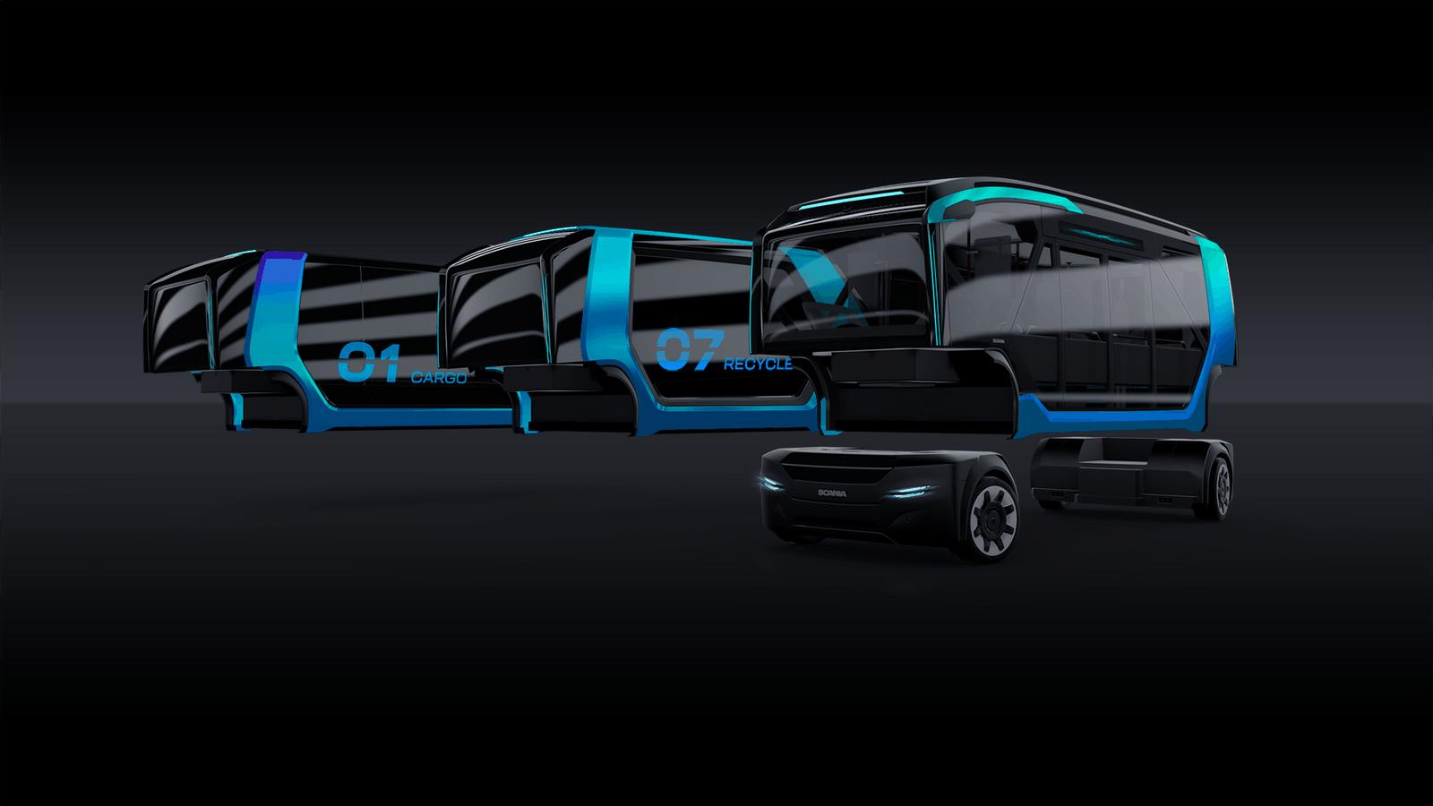 U vozidla NXT lze přední a zadní pohonné moduly namontovat na několik karoserií…