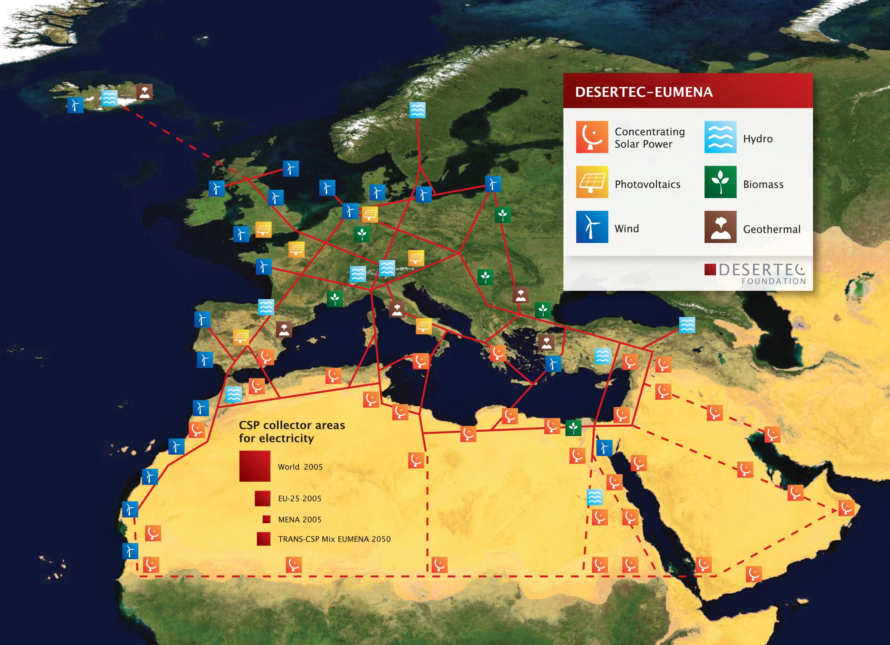 Chtějí svítit elektřinou ze Sahary, roku 2009 proto podnikatelé rozjíždí projekt DESERTEC.