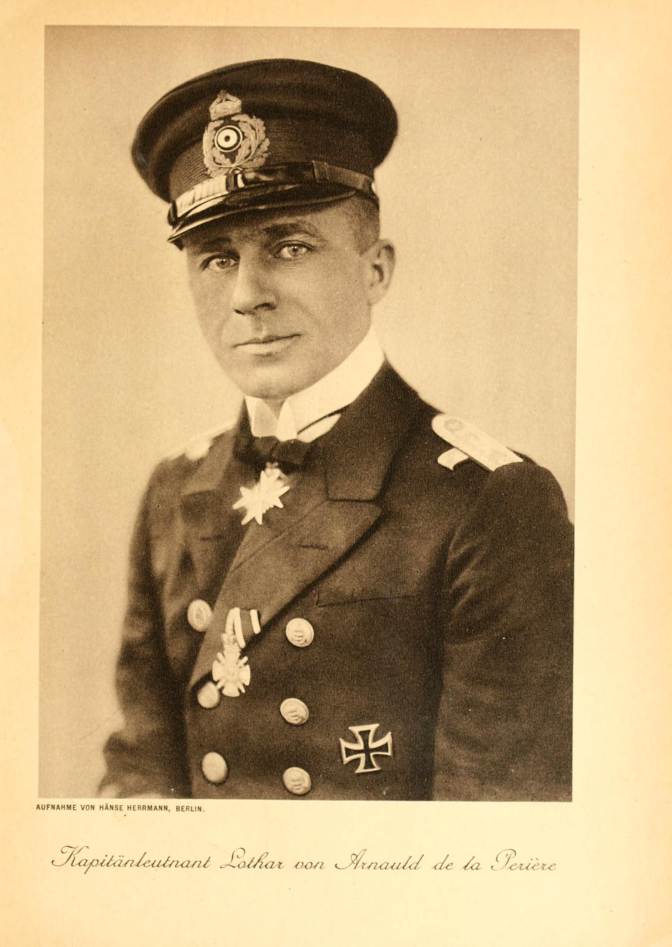 Kapitán Lothar von Arnauld byl muž mimořádně bystrého úsudku i chladných nervů.