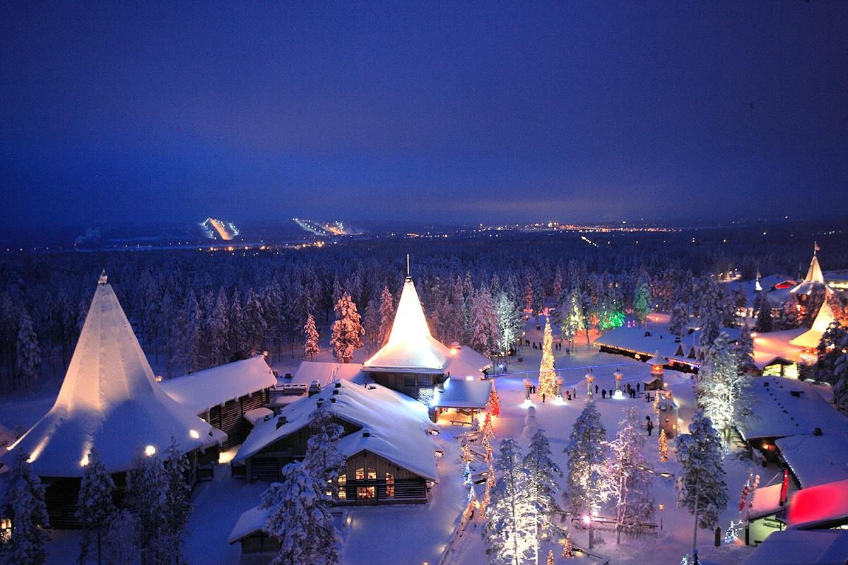 Santova vesnička (Finsko, Rovaniemi, Laponsko)