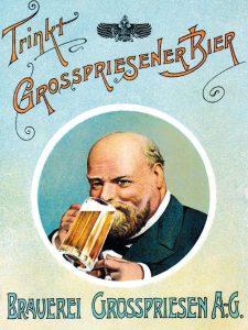 Pivo s etiketou, na které si zlatavý mok vychutnává Victor Cibich, bylo ve 20. Století populární v Německu, Kostarice nebo v Uruguayi.