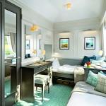Moderní styl a velká okna dávají apartmá zdušost a světlost.