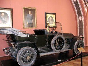Vůz Gräf & Stift Double Phaeton, ve kterém jel arcivévoda v době atentátu.