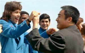Setkání obou sportovních diplomatů v roce 1972 v USA.
