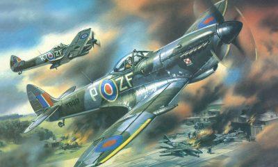 Supermarine Spitfire byl nasazen během 2. světové války a sehrál významnou roli v bitvě o Británii, kde společně s Hurricany tvořil páteř britského letectva.