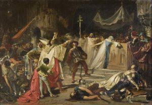 Cizí žoldnéři plení Věčné město. Gardisté jim čelí i u oltáře Svatopetrské baziliky.