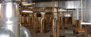 Systém klimatizace laseru.