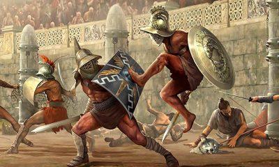Náklady na gladiátorské souboje, lovy a simulace bitev platil sponzor, což byl v Římě císař.
