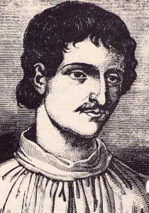 Giordano Bruno byl za své kacířské názory souzen a posléze i upálen.