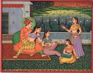 Indický král Tamba byl velký milovník žen. V harému jich měl tisíce.