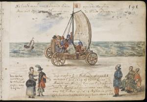 V knize Michala van Meera z roku 1613 najdeme i předchůdce windsurfingu.