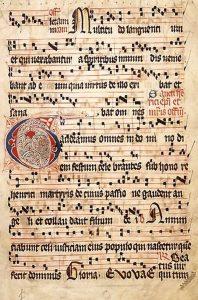 Gregoriánskému chorálu vděčíme i za vznik moderního notového zápisu.
