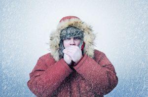 Alergie na chlad se projevuje kopřivkou.