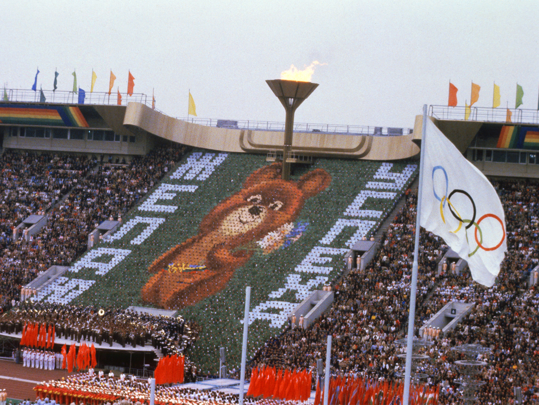 Photo of the Olympic Games' mascot Misha