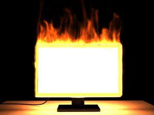 Televize může vypálit celý byt