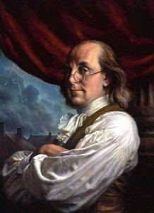 Američan Benjamin Franklin zabije dvě mouchy jednou ranou.
