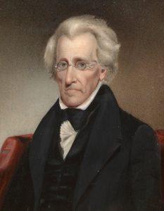 Andrew Jackson se rád prezentuje jako muž z lidu.